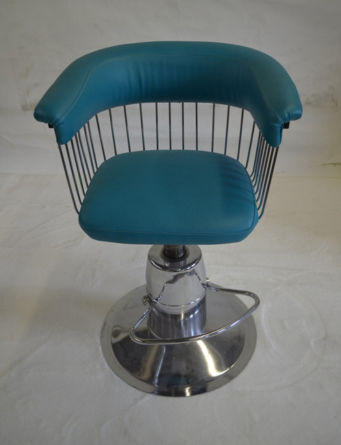 SOLD Vintage Barber Chair In The Style Of Verner Panton. Chair Chrome Has  Been Cleaned
