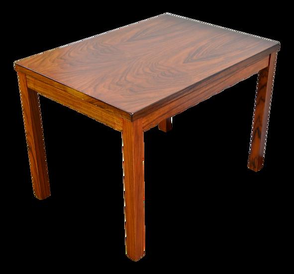 1960s Mid Century Modern Burl Walnut Side Table