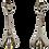 Thumbnail: Silver Modern Deco Candlesticks - a Pair