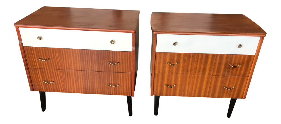 1960s Mid-Century Teak Chests - a Pair
