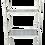 Thumbnail: 1960s Hollywood Regency White Faux Bamboo Metal Etagere Shelf