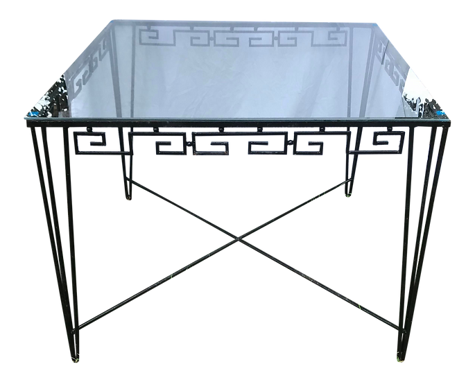 Wrought Iron Table With Greek Key Design