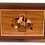 Thumbnail: 1950s Inlaid Wood Marquetry Design Tray