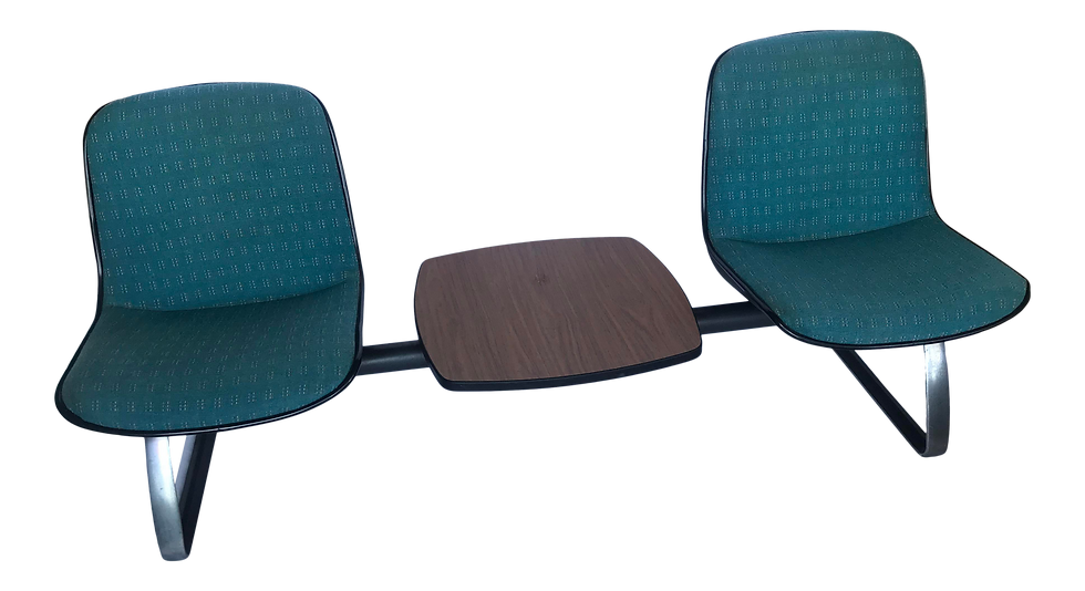 1970s Mid-Century Steelcase Tandem Seating