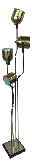 1970s Brass Pivoting Four Head Floor Lamp by Goffredo Reggiani