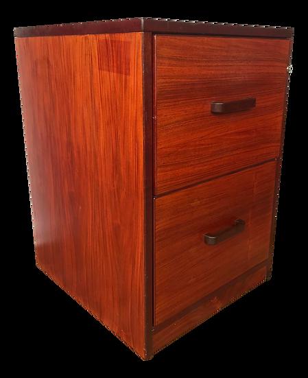 Jesper International Mid Century Rosewood Hanging File Cabinet