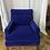 Thumbnail: Mid Century Blue Velvet Chair by Baker Furniture