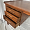 Thumbnail: Mid Century Danish Teak Free Standing Desk With Bookcase Back
