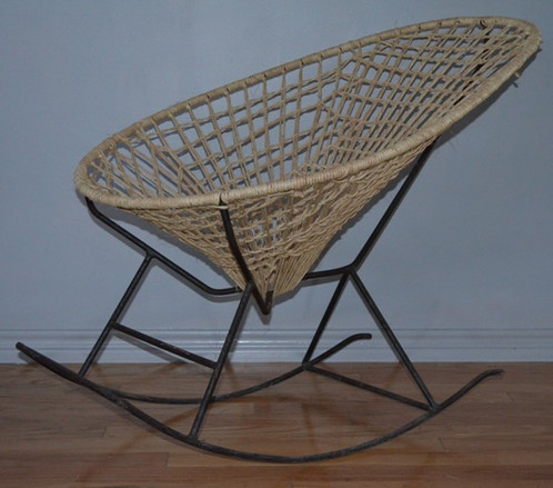 This Is Original 1960u0027s Acapulco Rocking Chair Wrought Iron Armature. The  Twine Seating Has Been Replaced Within The Last (6) Months.