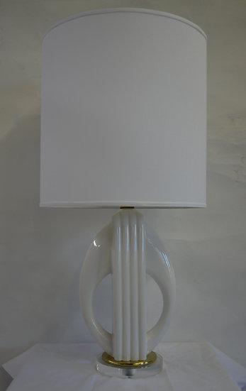 Porcelain White Lamp/Shade