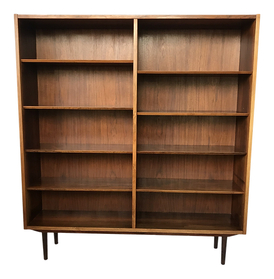 1960s Mid-Century Modern Tall Rosewood Bookcase