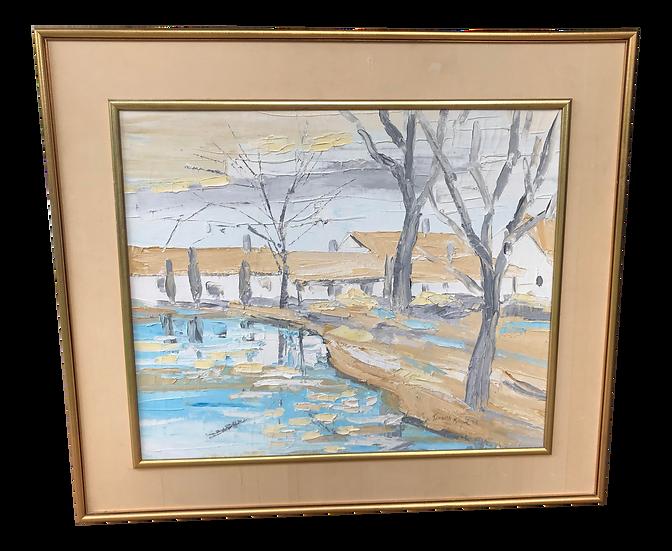 Original Kenneth Kaye Landscape Painting, Framed