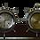 Thumbnail: Seth Thomas Nautical Ship Wheel Clock and Barometer