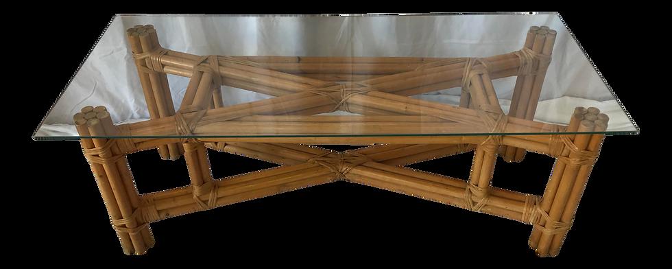 Boho Chic X Design Rattan Coffee Table