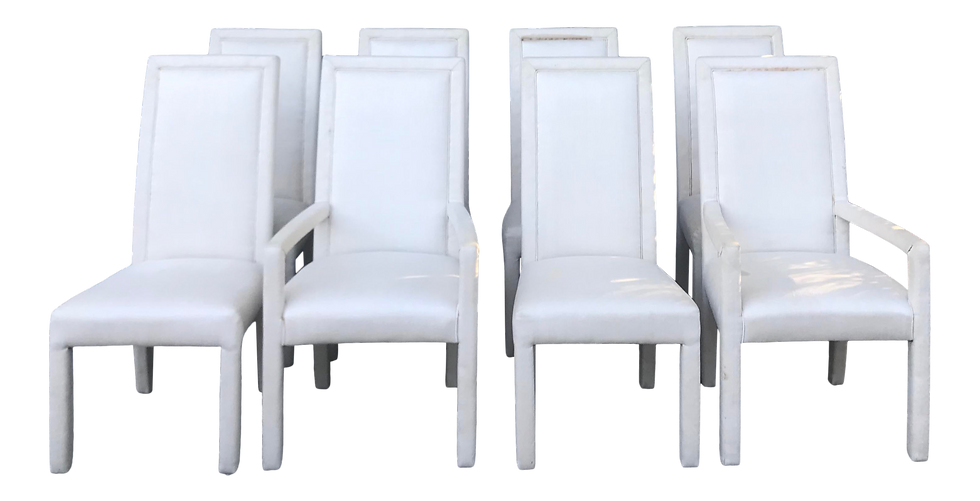 Late 20th Century Parson Dining Chairs - Set of 8