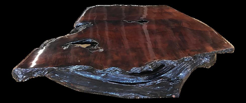 Vintage Burl Wood Live Edge Slab Coffee Table