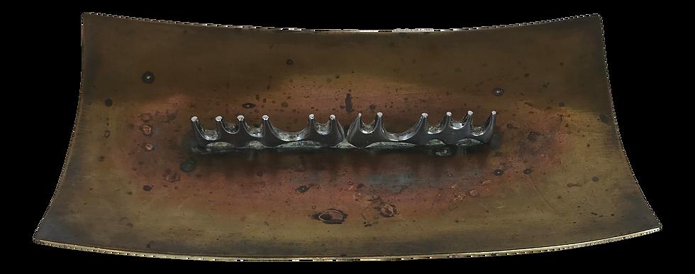 1950s Mid-Century Ben Seibel Brass Ashtray/Cigar Holder for Raymor