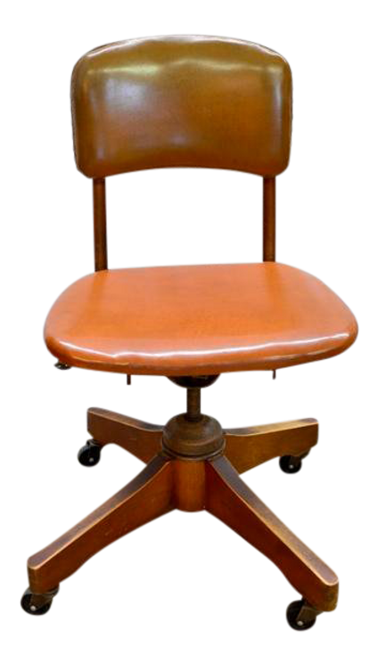 Vintage Armless Rolling Desk Office Chair