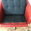 Thumbnail: 1960s Mid Century Modern Red Leather Swivel Chair