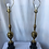 Thumbnail: 1950s Brass With Center Pineapple Lamps - a Pair