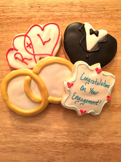 interlocking rings & hearts