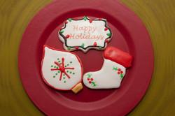 happy holidays, stocking, ornament