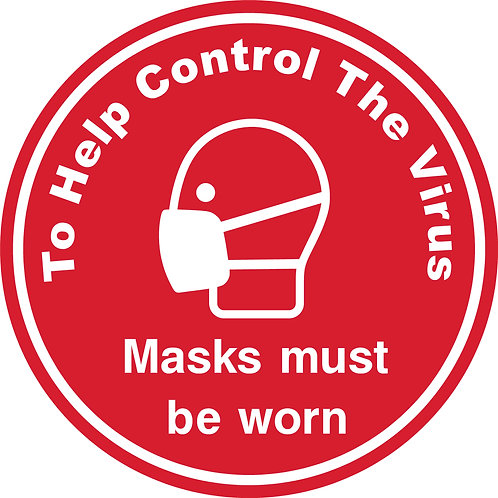 Masks must be worn Floor Graphic 300mm Circle