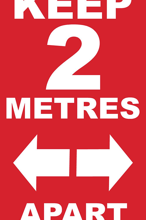 Floor Graphic PLEASE KEEP 2 M APART RECTANGLE 500MM X 280MM