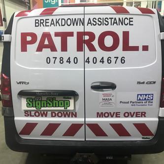 PATROL. van signs