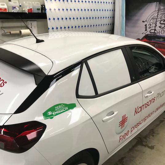 Electric car graphics