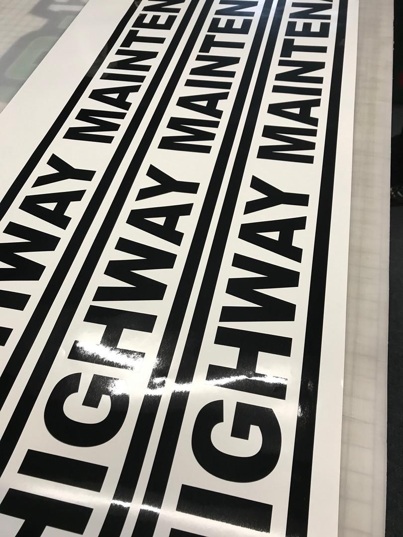 Cut Vinyl stickers