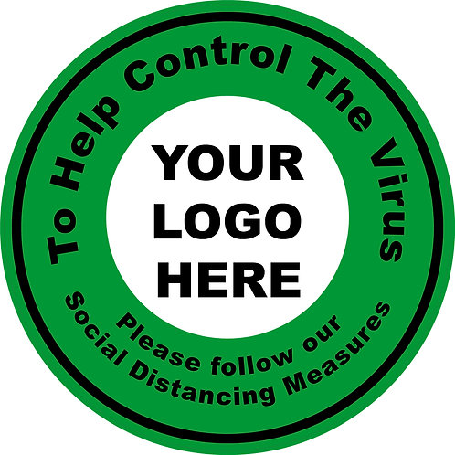Help to control the virus door/window Graphic 200mm Circle