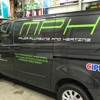 MPH Van signage