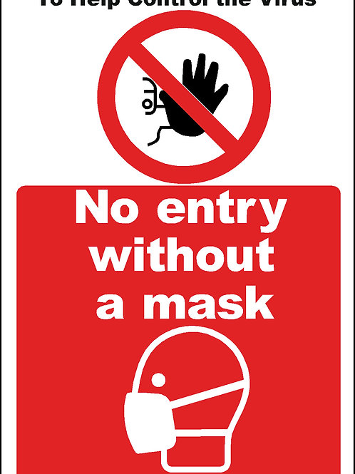 No entry without a mask Sticker A4