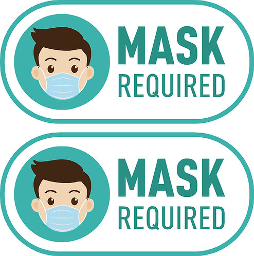 Mask Required Sticker (Green)