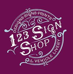 Contact details for the 123 Sign Shop Signmakers