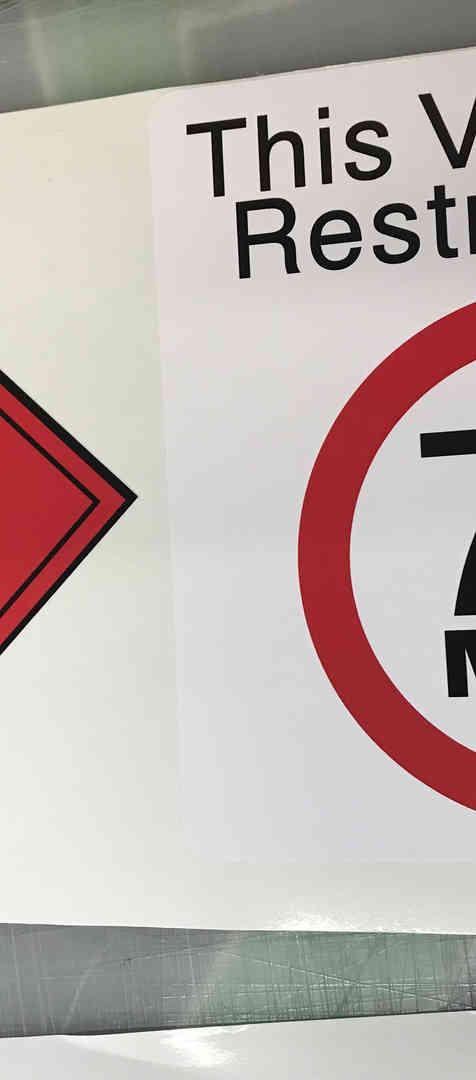 Vehicle Warning sticker printers