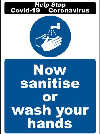 Now sanitise sticker