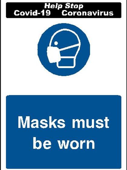 Masks must be worn sticker