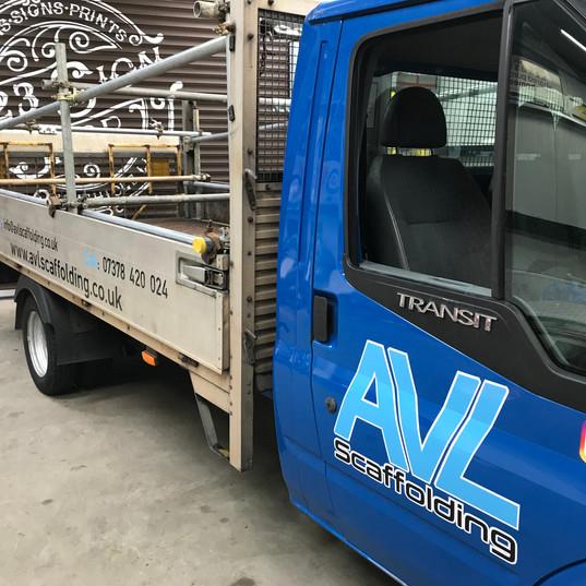 Scaffolding truck