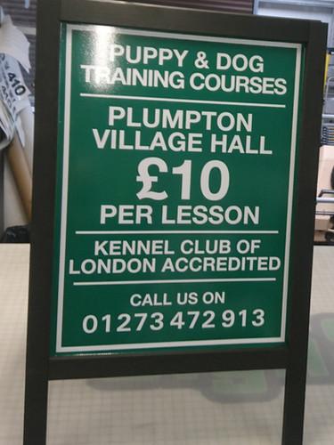 A board signage Brighton