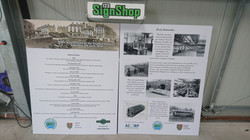 Informational Signs Produced for local railway station