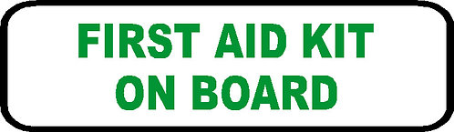 S77 - First Aid Kit On Board