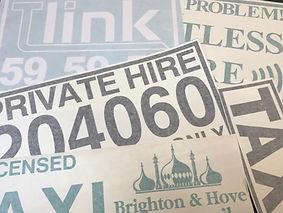 Cut Vinyl Taxi Door Signs