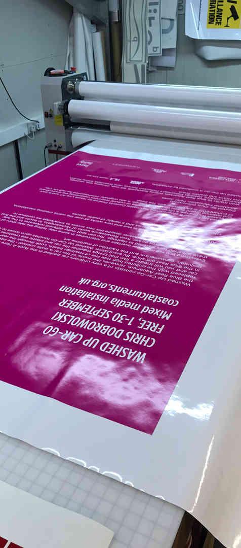 Self Adhesive Vinyl Poster Printing