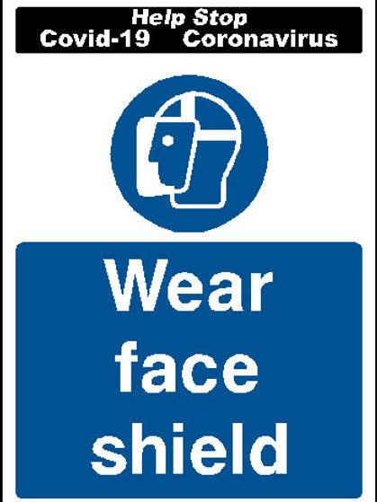 Wear face shield sticker