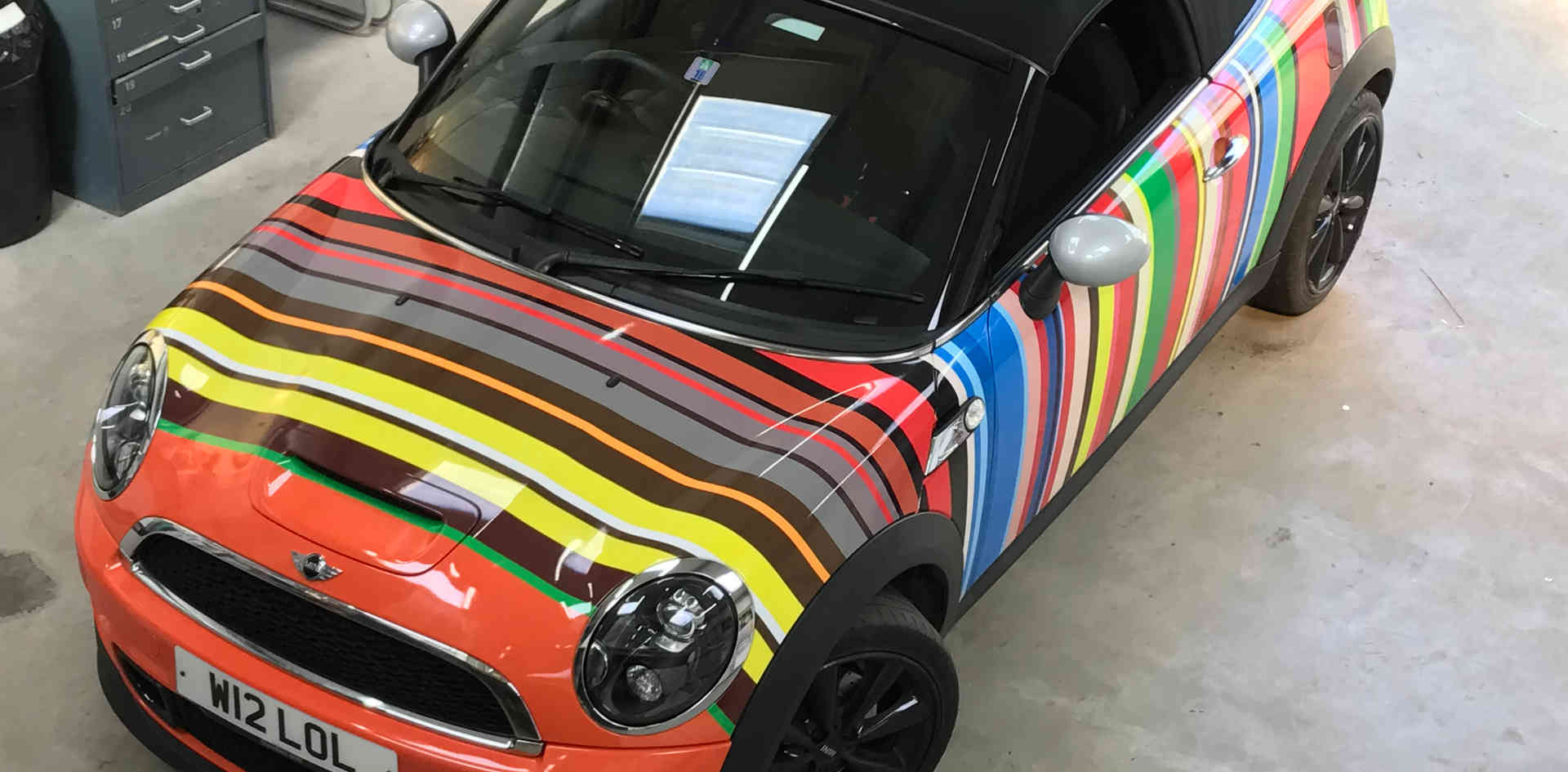 Mini Roadster Vinyl Wrap at the 123 Sign Shop