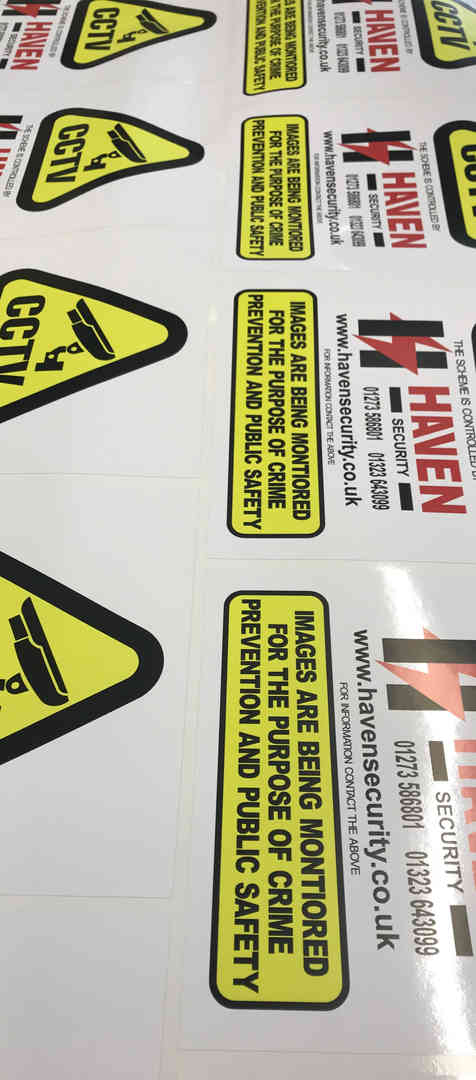 Bespoke Company stickers and signs