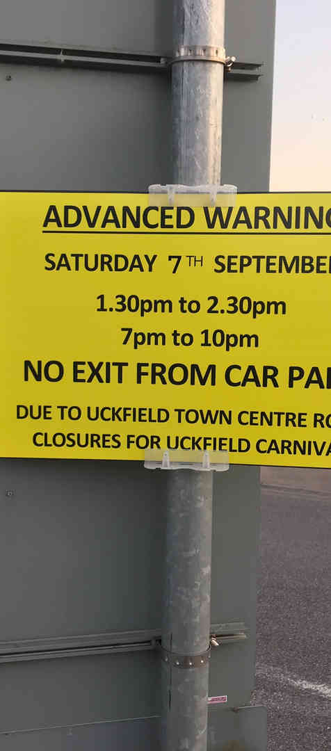 Temporary Warning and Event signs
