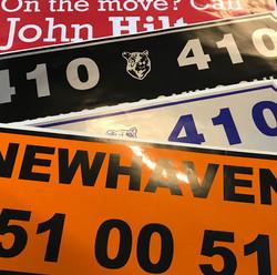 Door sign stickers